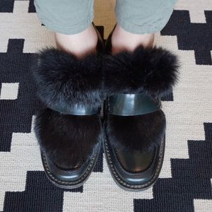 Shoes - Fur accent loafers